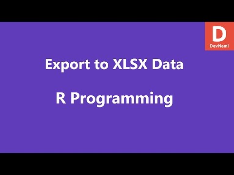 R Programming Export Data to XLSX Excel File