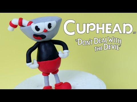 How To Make Cuphead cake topper out of fondant! DIY Cuphead tutorial