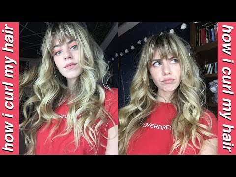 HOW I CURL MY HAIR | Soft, Natural Curls (WITH BANGS)