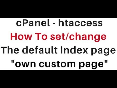 change or set the default index page with htaccess (linux hosting)