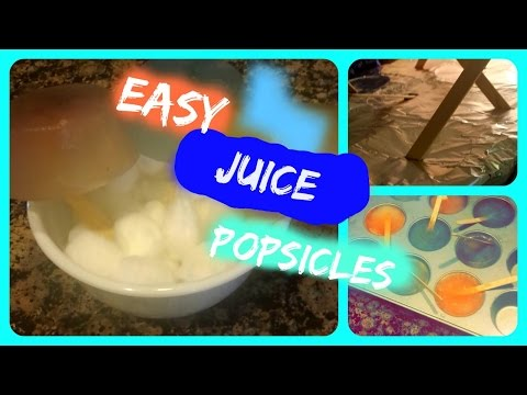 How to Make Juice Popsicles - SIMPLE and QUICK [2015]
