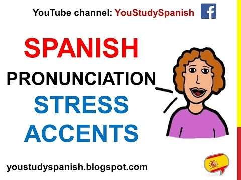 Spanish Lesson 83 - Spanish Pronunciation Basic rules ACCENTS STRESS the right syllable