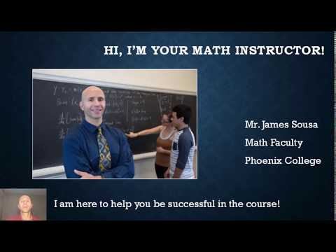 Your Math Instructor's Introduction - James Sousa