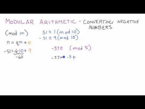 How to Convert a Negative Integer in Modular Arithmetic - Cryptography - Lesson 4