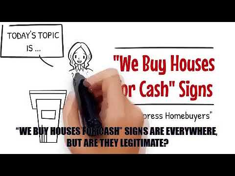 Expresshomebuyers GIF we buy houses for cash signs