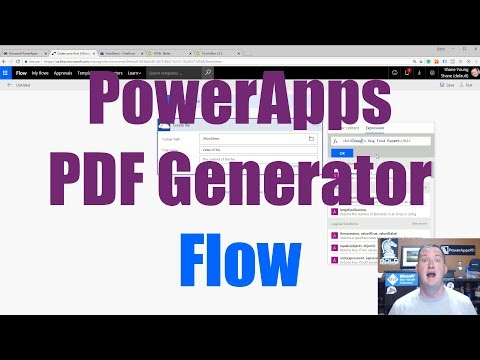 PowerApps PDF Generator using Microsoft Flow PDF Converter