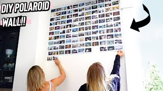 diy polaroid wall // super easy room decor!
