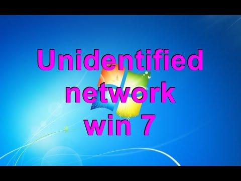 Unidentified network win 7