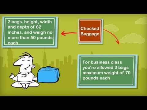 United Airlines baggage allowance (USA)