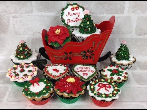 Easy to make Christmas tree cupcake