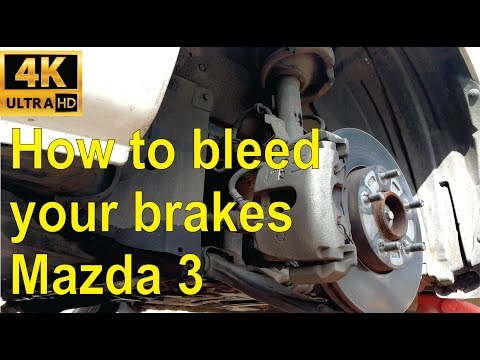 How to bleed your brakes on a Mazda 3 - step by step