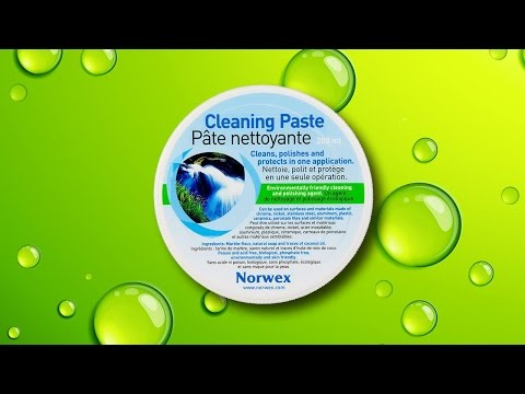 Norwex Cleaning Paste for Window Stickers on Glass