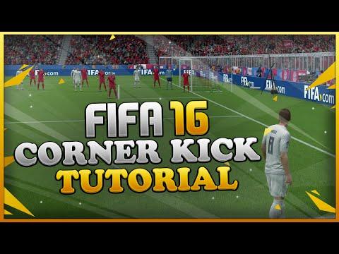 FIFA 16 CORNER KICK TUTORIAL - UNIQUE METHOD FOR SCORING GOALS / BEST HIDDEN TECHNIQUE
