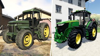 Compares Tractor from gta5 and Tractor from Farm Simulator 19 | Smooth Riding and Breaking obstacles