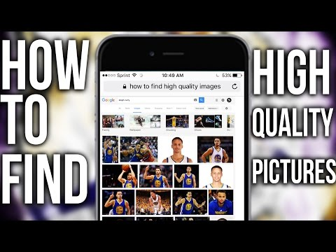 HOW TO FIND HIGH QUALITY PICTURES pt 2 (ON YOUR PHONE)