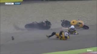 Big World Superbike crashes