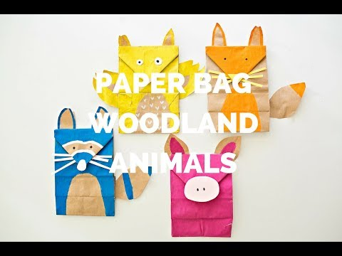 Paper Bag Woodland Animal Craft