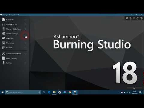 Overview of Ashampoo Burning Studio 18