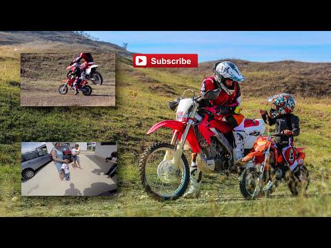 First Training 4year old Kid Tudor    Lesson 1 -riding Dirtbike ktm 50sx