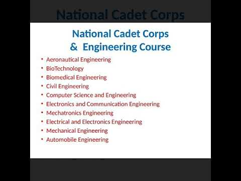 What is  NCC  ,Engineering  and Technology  Course in Tamilnadu India ?