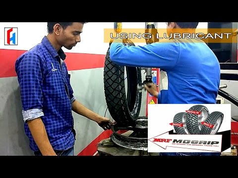 TUBELESS TYRE CHANGE GUIDE//MRF MOGRIP 120/80/17//R15 V1 REAR TYRE FOR HILL RIDE