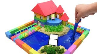Download DIY How To Make Garden House with Kinetic Sand, Mad Mattr, Slime, Straws Video