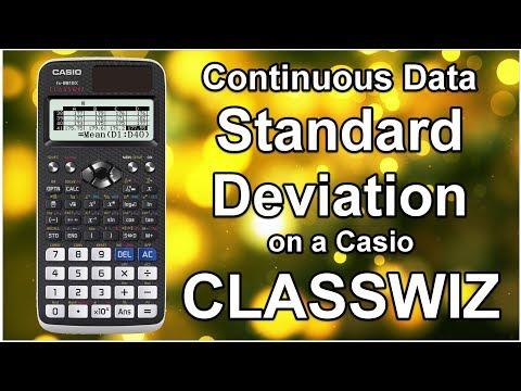 Casio Classwiz - Mean & Standard Deviation Grouped Continuous Data using Calculator FX-991EX FX991EX