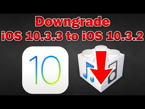 How to Downgrade iOS 10.3.3 to 10.3.2 on iPhone, iPod touch & iPad