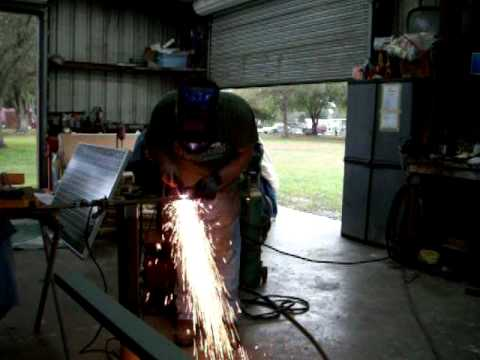 Cutting Rusty metal With Plasma Cutter.