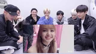 BTS reaction to lisa blackpink Beautiful images of Lisa 2019