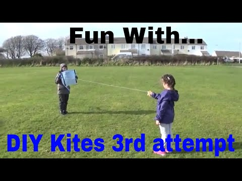Fun with... Our 3rd attempt at building DIY Kites