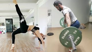 Anushka Sharma Workout With Virat Kohli In Gym