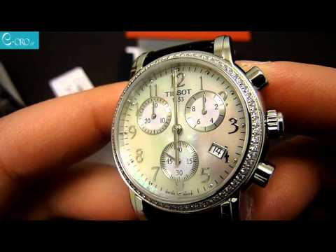 TISSOT Dressport Diamonds Black Leather Chrono Ladies Watch T0502171611201 - E-oro.gr