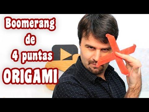 Boomerang de 4 puntas │Un solo papel │ Origami