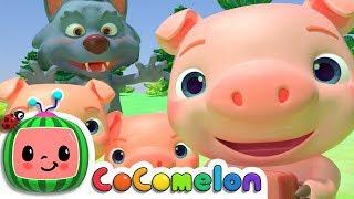 Three Little Pigs   CoCoMelon Nursery Rhymes & Kids Songs