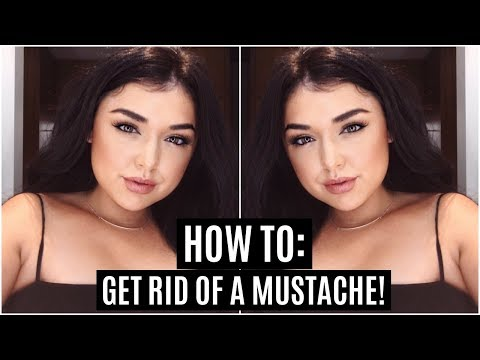 HOW TO GET RID OF A MUSTACHE AT HOME UNDER 10$- HAIR ON UPPER LIP | Chloé Zadori