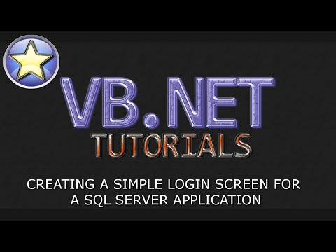VB.NET Database Tutorial - Login Screen For A SQL Database Application (Visual Basic .NET)
