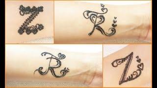 Z letter tattoo in mehndi