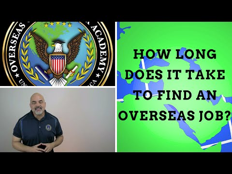 How long does it take to find an overseas job?