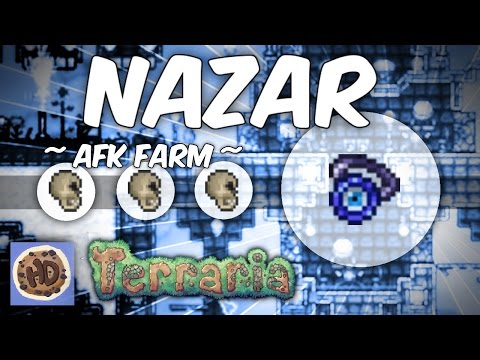 Terraria 1.3 AFK Dungeon Nazar Farm | Ankh Charm Series #3 |