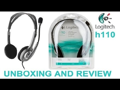 UNBOXING LOGITECH STEREO HEADSET H110