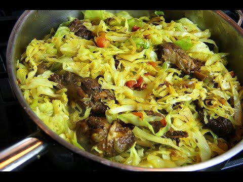 Cabbage With Leftover Stewed Chicken - Tasty Tuesday's   CaribbeanPot com