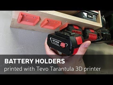 Battery Holders Printed With Tevo Tarantula 3D Printer