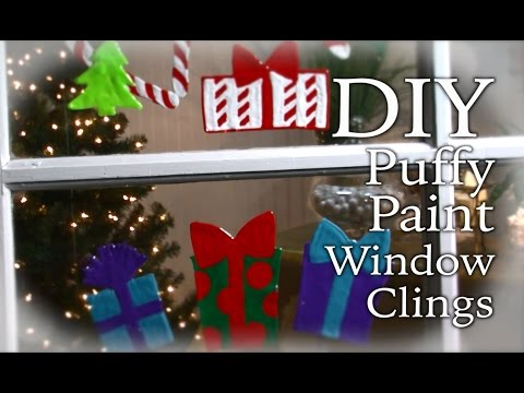 DIY Holiday Puffy Paint Window Clings