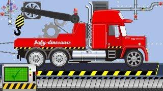 Street Vehicles for Kids | Tow Truck | Police Monster Truck | Pojazdy Drogowe Holownik Policja