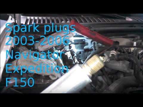 Spark plug replacement 2004 Lincoln Navigator 5.4L Expedition How to change plugs