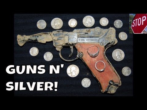 GET OUT THE RECORD BOOKS! ME & RUSTY EXCAVATE 27 SILVERS! GUN, RINGS & COINS! | METAL DETECTING 2015