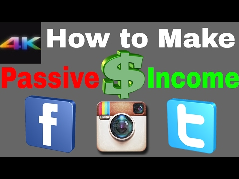 How to make Passive Income on Facebook, Twitter, and Instagram!