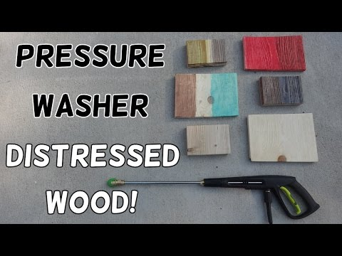 How to Distress Wood with Water!