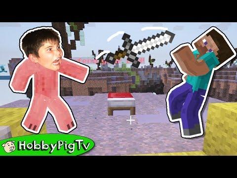Minecraft Bed Wars Mystery with HobbyPig Live Stream 3 HobbyPigTV